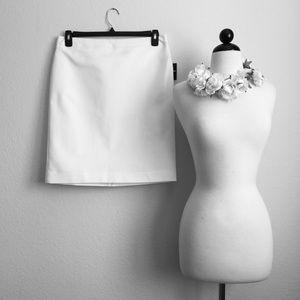 Liz Claiborne Career Double Cotton White Skirt